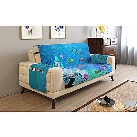 Накидка на 2-х местный диван с подлокотниками 07877, 135*195 см