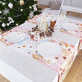 """Дорожка на стол """"Зима в подарках"""", 40*140 см"""