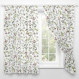 """Фотошторы для кухни """"Цветы и травы"""", 145*180 см"""