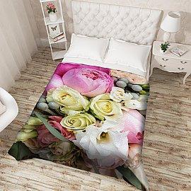 """Фотопокрывало стеганое """"Пионы и розы"""", 200*220 см"""