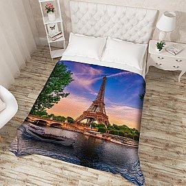"""Фотопокрывало стеганое """"Из парижского окна"""", 200*220 см"""