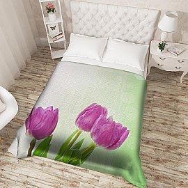 """Фотопокрывало стеганое """"Весенние тюльпаны"""", 200*220 см"""