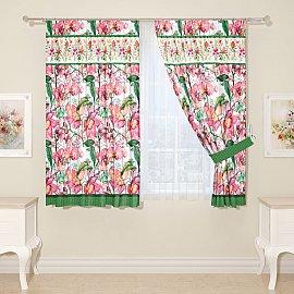 """Комплект штор для кухни """"Яркие краски весны"""""""
