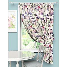 """Шторы Стильный дом """"Фиолетовые розы"""", 145*180 см"""