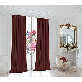 Комплект штор 230-15, вишневый