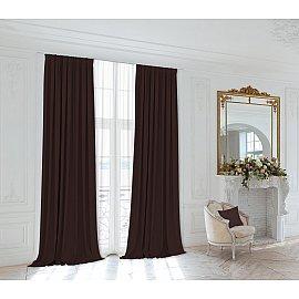 Комплект штор 230-905, коричневый