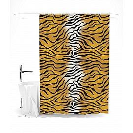 """Штора для ванной """"Тигровый принт"""", 145*180 см"""