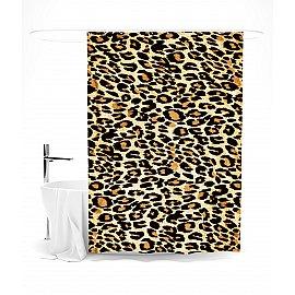 """Штора для ванной """"Мех леопарда"""", 145*180 см"""
