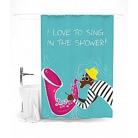 """Штора для ванной """"Я люблю петь в душе"""", 145*180 см"""