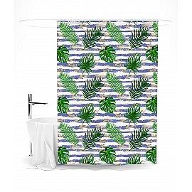 """Штора для ванной """"Тропический узор"""", 145*180 см"""