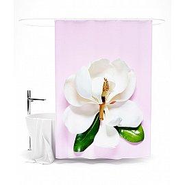 """Штора для ванной """"Нежный цветок"""", 145*180 см"""