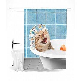 """Штора для ванной """"Кайф"""", 145*180 см"""