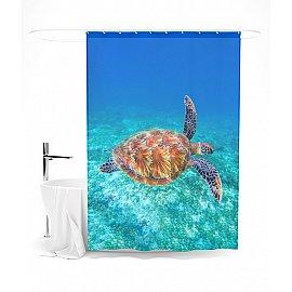 """Штора для ванной """"В морских глубинах"""", 145*180 см"""