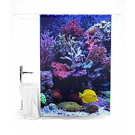 """Штора для ванной """"Морские тайны"""", 145*180 см"""
