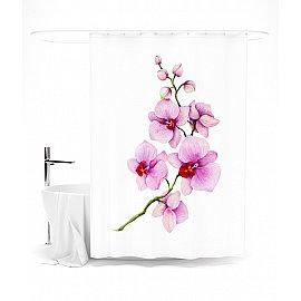 """Штора для ванной """"Нежная орхидея"""", 145*180 см"""