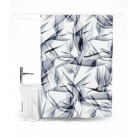 """Штора для ванной """"Цветочная графика"""", 145*180 см"""