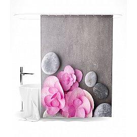 """Штора для ванной """"Розовые лепестки"""", 145*180 см"""