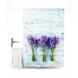 """Штора для ванной """"Букетики лаванды"""", 145*180 см"""
