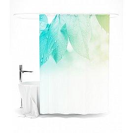 """Штора для ванной """"Нежность зеленого"""", 145*180 см"""