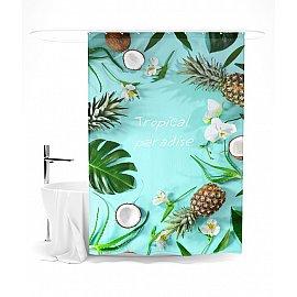 """Штора для ванной """"Тропический рай"""", 145*180 см"""