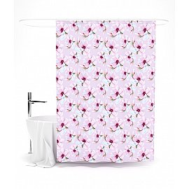 """Штора для ванной """"Распустившаяся магнолия"""", 145*180 см"""