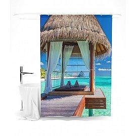 """Штора для ванной """"Морской уголок"""", 145*180 см"""