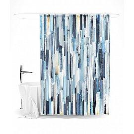 """Штора для ванной """"Вертикальные мазки"""", 145*180 см"""