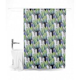 """Штора для ванной """"Геометричный лес"""", 145*180 см"""