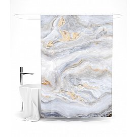 "Штора для ванной ""Мраморные разводы"", 145*180 см"