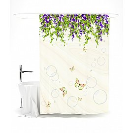 """Штора для ванной """"Весенние мотивы"""", 145*180 см"""
