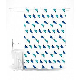 """Штора для ванной """"Листья"""", 145*180 см"""