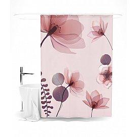 """Штора для ванной """"Цветочное умиротворение"""", 145*180 см"""