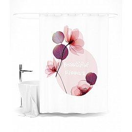 """Штора для ванной """"Baeutiful Flowers"""", 145*180 см"""