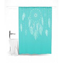 """Штора для ванной """"Ловец снов (Бирюзовый)"""", 145*180 см"""