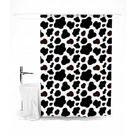 """Штора для ванной """"Коровий принт"""", 145*180 см"""