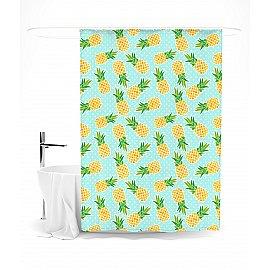 """Штора для ванной """"Солнечные ананасы"""", 145*180 см"""