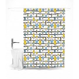 """Штора для ванной """"Яркие перышки"""", 145*180 см"""