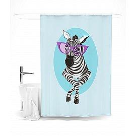 """Штора для ванной """"Красотка-зебра"""", 145*180 см"""