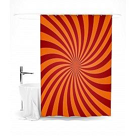 """Штора для ванной """"Красные лучи"""", 145*180 см"""