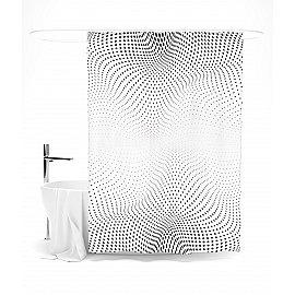 """Штора для ванной """"Абстрактные волны"""", 145*180 см"""