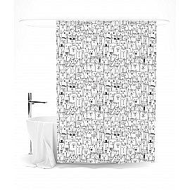 """Штора для ванной """"Барсики и Мурзики"""", 145*180 см"""