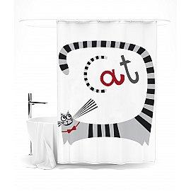 """Штора для ванной """"Я люблю кошек"""", 145*180 см"""