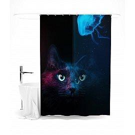"""Штора для ванной """"Кошачий взгляд"""", 145*180 см"""