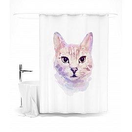 """Штора для ванной """"Портрет домашнего любимца"""", 145*180 см"""