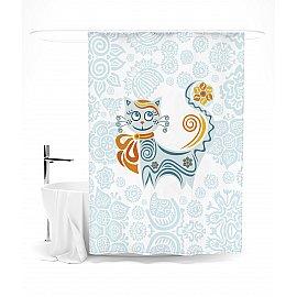 """Штора для ванной """"«Обыкновенных кошек не бывает»"""", 145*180 см"""