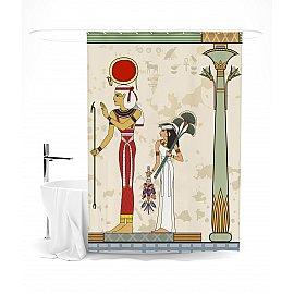 """Штора для ванной """"Египетская фреска"""", 145*180 см"""