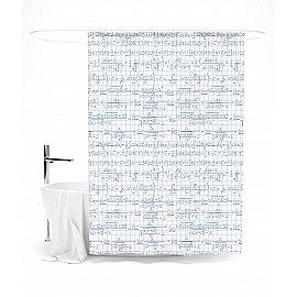 """Штора для ванной """"Математический узор"""", 145*180 см"""