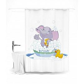 """Штора для ванной """"Слоненок в ванной"""", 145*180 см"""