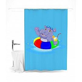 """Штора для ванной """"Отличный отдых"""", 145*180 см"""