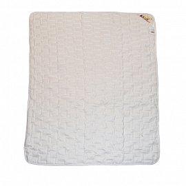 """Одеяло """"Озорной щенок"""", белый, легкое, 110*140 см"""